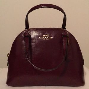 Coach Burgundy Handbag